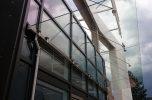 Daszek szklany na stolarce aluminiowej w Katowicach
