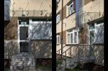 daszek szklany MAGIC WAND w Warszawie nad schodami
